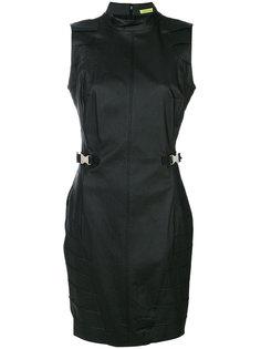 приталенное платье с поясом Versace Jeans