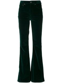 расклешенные бархатные брюки Rockins
