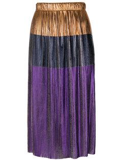 плиссированная юбка металлик  Golden Goose Deluxe Brand