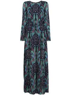 длинное платье с цветочным принтом Ingie Paris