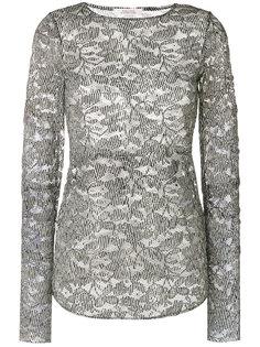 полупрозрачная блузка с цветочной вышивкой  Dorothee Schumacher
