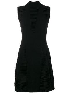 текстурированное платье без рукавов Versace Jeans