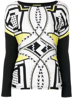 блузка с принтом Versace Jeans