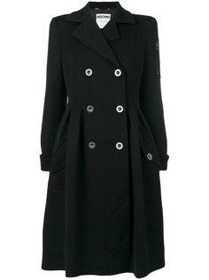 двубортное пальто в стиле платье Moschino