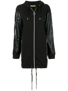 пальто с капюшоном Versace Jeans