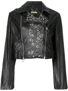 байкерская куртка с заклепками Versace Jeans