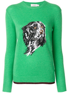 свитер с узором интарсия  Coach