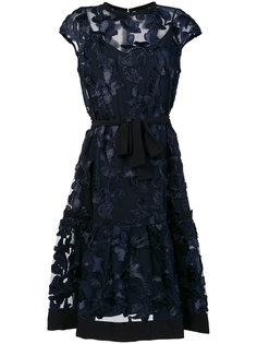платье с цветочным принтом и поясом Cavalli Class