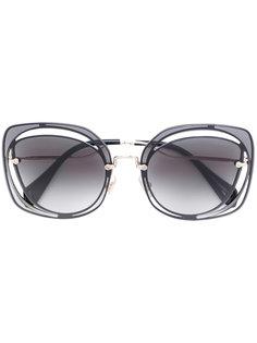 солнцезащитные очки в квадратной оправе Miu Miu Eyewear