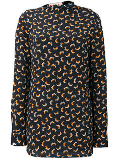 рубашка с длинными рукавами с принтом Marni