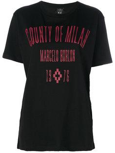 футболка с логотипом и графическим принтом  Marcelo Burlon County Of Milan