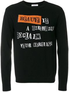 свитер вязки интарсия Beauty is a Birthright Valentino