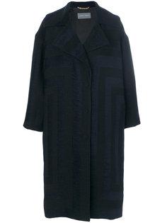 жаккардовое пальто свободного кроя Alberta Ferretti