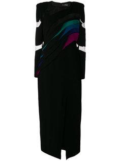 платье с плиссировкой  Capucci