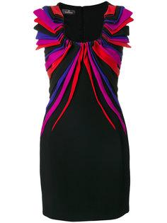 платье мини с драпировкой и аппликацией  Capucci