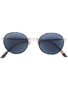 классические солнцезащитные очки в круглой оправе Giorgio Armani