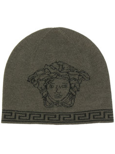 """шапка-бини Medusa вязки """"интарсия"""" Versace"""