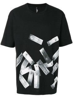 футболка с изображением булавок Versus