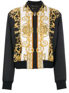 куртка-бомбер с принтом Medusa Versace