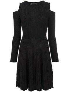 платье с вырезами на плечах Versace