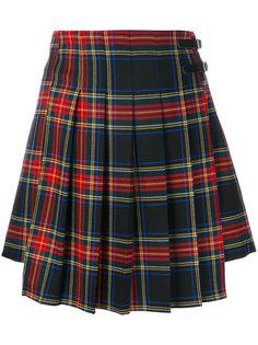 клетчатая плиссированная короткая юбка P.A.R.O.S.H.