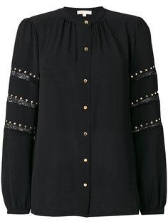 блузка с заклепками и кружевными вставками Michael Michael Kors