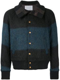куртка-бомбер  в полоску Kolor