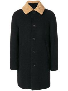 пальто-миди с меховым воротником MSGM