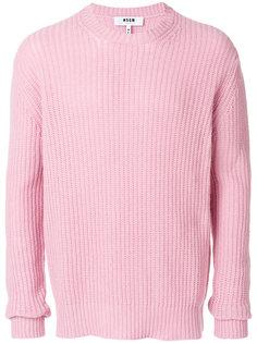 свитер с ребристой фактурой  MSGM