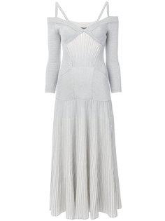 вязаное платье из джерси с ребристой фактурой Alexander McQueen