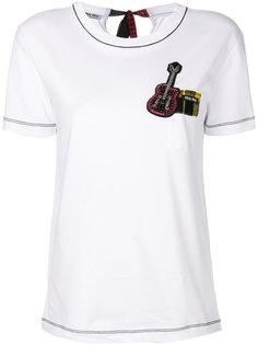 футболка с гитарой  Miu Miu