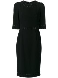 платье с контрастной строчкой  Dolce & Gabbana
