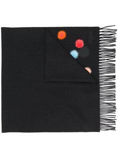 шарф с декором из помпонов Fendi