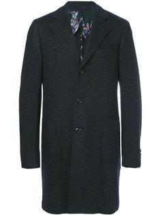 пальто-сиди с накладными карманами Etro