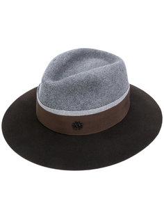 шляпа с полями и фирменной бляшкой Maison Michel