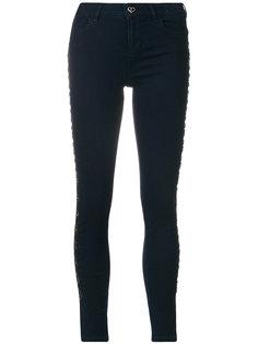 джинсы скинни с отделкой стразами  Twin-Set