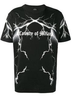 футболка с принтом с логотипом и молниями Marcelo Burlon County Of Milan