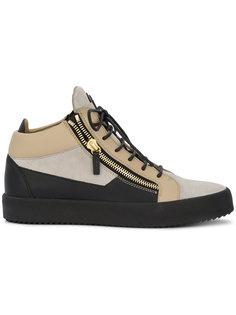 кроссовки средней высоты с молнией Giuseppe Zanotti Design