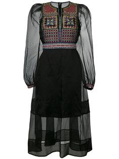 платье из органзы с вышивкой  Miahatami