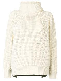 двухцветный свитер со съемной горловиной Sacai