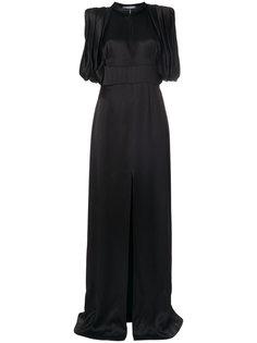 платье без рукавов с разрезом спереди  Prada