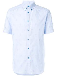 жаккардовая рубашка на пуговицах с черепами Alexander McQueen