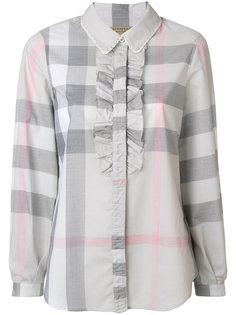 рубашка в клетку с оборкой  Burberry