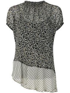 блузка с присборенным воротом и цветочным принтом  Twin-Set