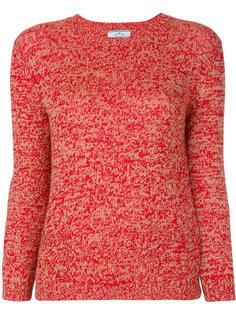 свитер с заплатками на локтях  Prada