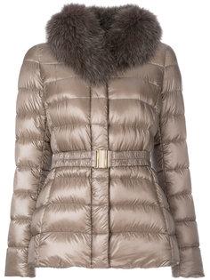 дутая куртка с отделкой на воротнике  Herno