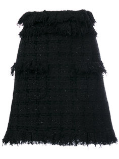 твидовая А-образная мини-юбка MSGM