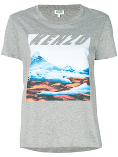 футболка с пейзажным принтом  Kenzo