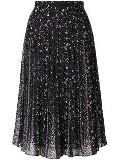 плиссированная юбка с вышивкой  Michael Michael Kors