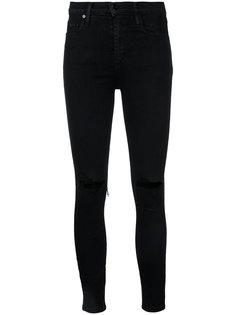 узкие джинсы с прорезами на коленях Nobody Denim
